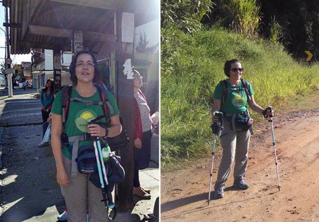Brasileira desafia câncer avançado e percorre 1,4 mil km a pé em peregrinações