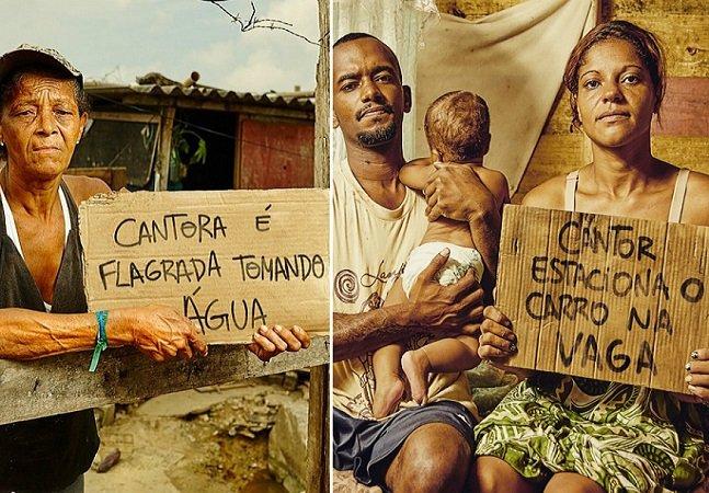 ONG cria campanha impactante para mostrar como a mídia ignora a pobreza extrema no Brasil