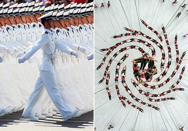 Série de fotos incrível mostra a beleza das multidões na China