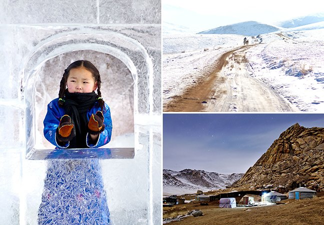Fotógrafo retrata a beleza por trás do inverno glacial da Mongólia