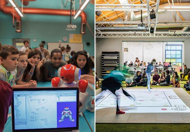 Escola inovadora dispensa quadro negro e usa jogos e brincadeiras como forma de ensinar