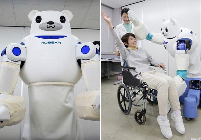 Empresa cria robô em formato de urso que ajuda a cuidar de idosos e pessoas com deficiência física