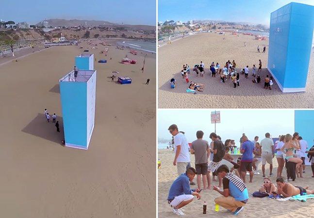 Ação na praia disponibiliza Wi-Fi que só funciona na sombra para prevenir câncer de pele