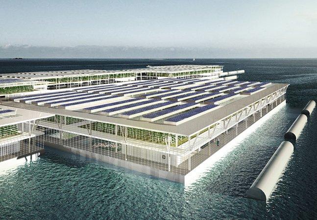 Arquitetos criam fazendas flutuantes que permitem produzir comida no mar