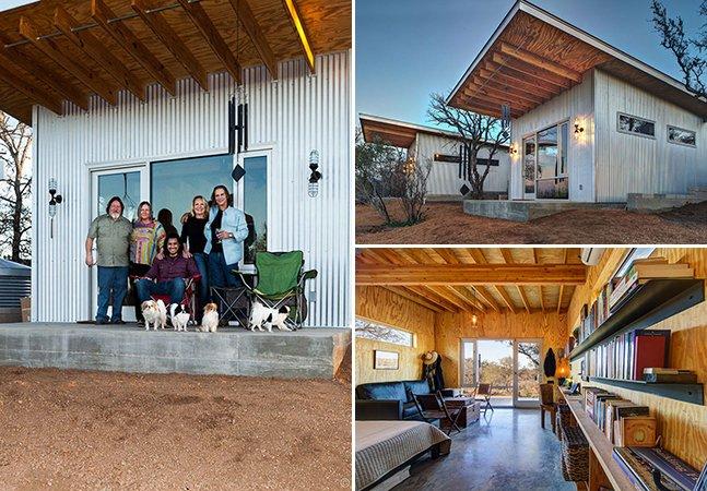 Amigos de longa data criam mini-vila sustentável para poderem viver juntos
