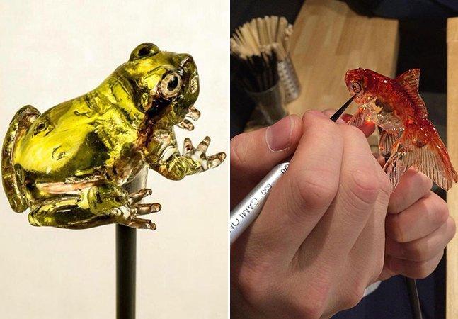 Artista cria pirulitos incríveis com esculturas realistas de animais