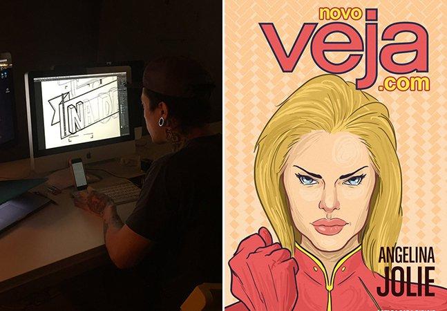 Ilustrador brasileiro transforma capas da revista Veja em arte com transmissão em tempo real