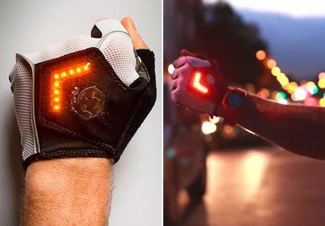 Luva inovadora com luz LED promete ajudar ciclistas a pedalar em segurança