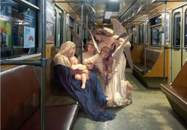 Designer ucraniano cria imagens inusitadas inserindo obras de arte clássicas em cenários modernos