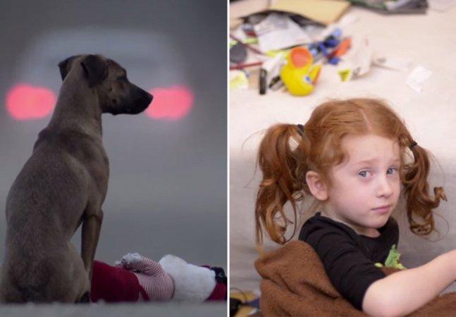 Vídeo emocionante troca cachorro por criança para chamar atenção para o abandono
