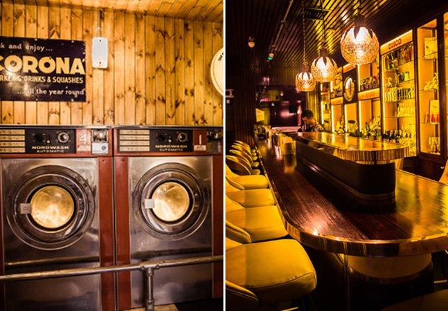 O bar secreto inspirado nos anos 70 que fica escondido dentro de um café-lavanderia em Londres