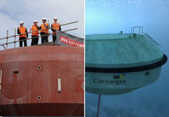Sistema inovador usa ondas submarinas para criar energia limpa