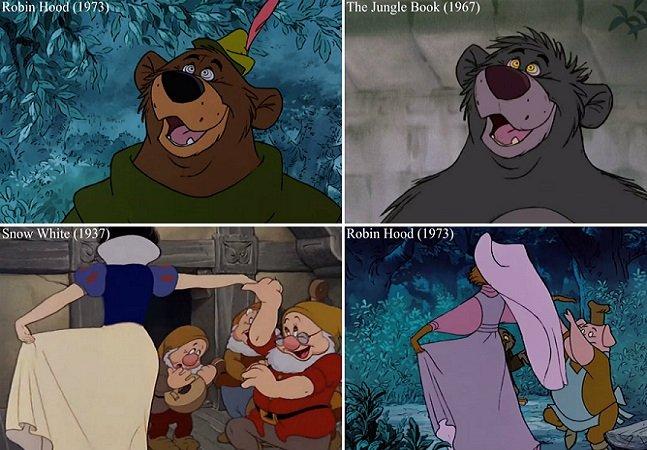 """Vídeo mostra como a Disney """"reciclou"""" várias cenas de seus filmes"""