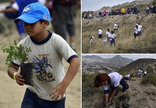 Mais de 44 mil pessoas se juntaram no Equador para bater o recorde de reflorestamento em um só dia