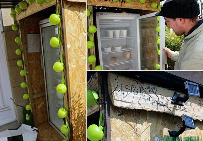 A geladeira pública onde você pode deixar alimentos para quem mais precisa