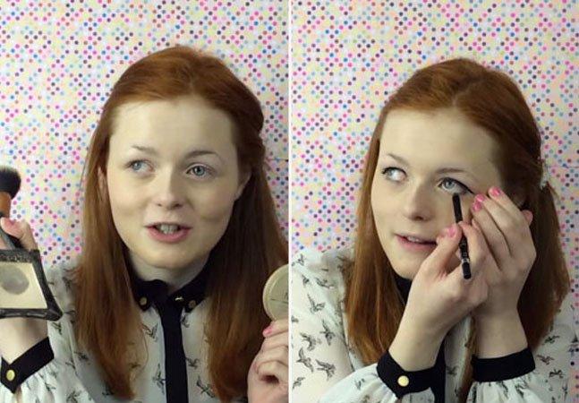 Garota deficiente visual faz sucesso com vídeos de automaquiagem no YouTube