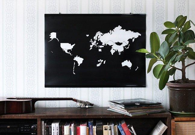 Mapa para marcar os países que você já visitou vai pra lista de desejos de todo amante de viagens