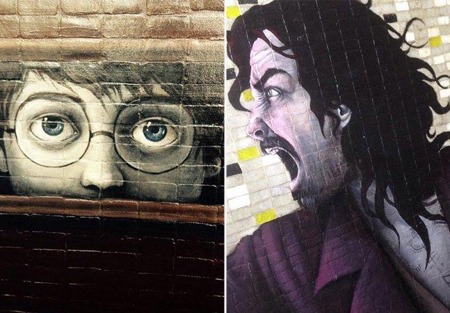 Artista espalha murais incríveis em museu no México inspirados pela saga de Harry Potter