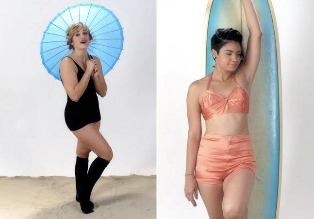 Vídeo mostra como a roupa de praia feminina mudou ao longo dos anos