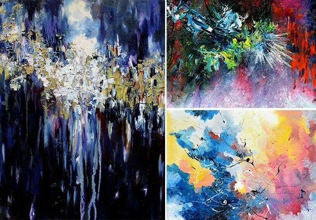 Artista usa sinestesia para pintar as músicas que ouve e criar telas impressionantes