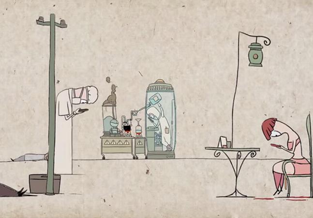 Animação divertida faz crítica ao nosso vício pelos smartphones