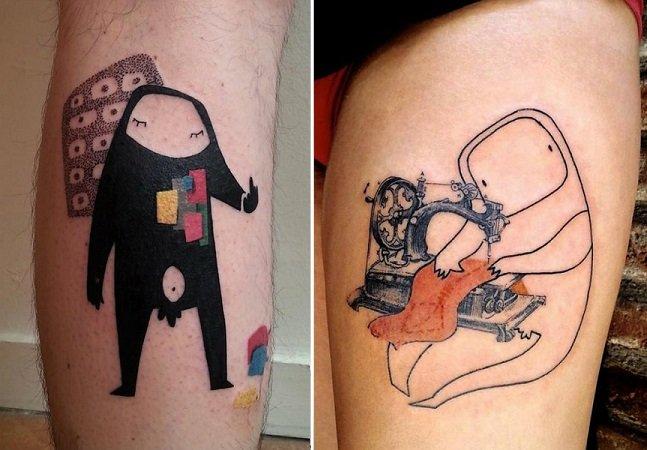 Artista faz sucesso ao usar elementos lúdicos para compor tatuagens criativas