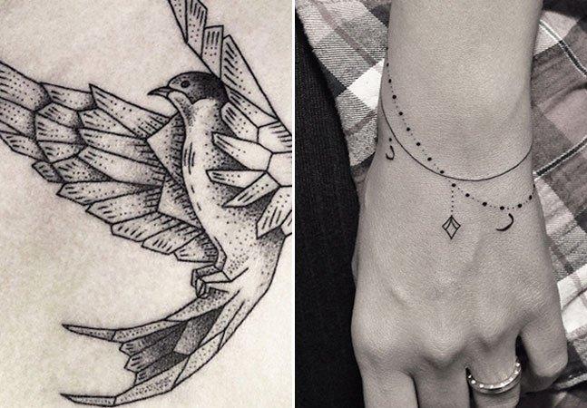 As tatuagens delicadas e de traço fino da artista turca Bicem Sinik