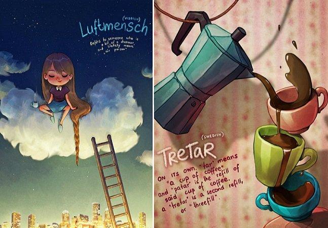 Artista cria série de ilustrações para explicar palavras intraduzíveis