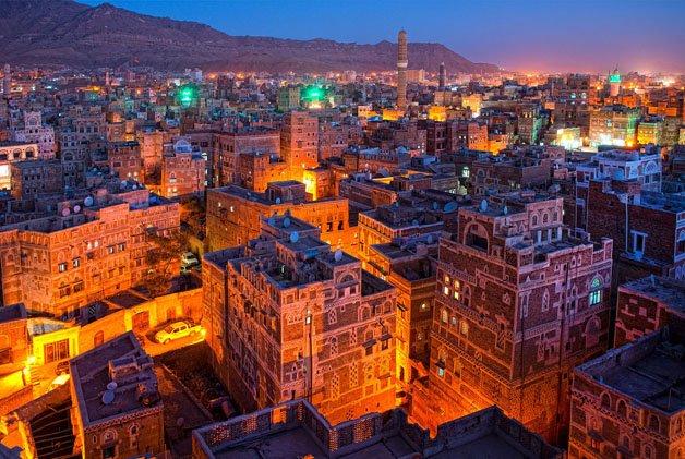 Blue light in Sana