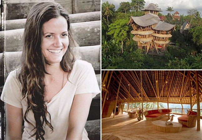 Mulher abre mão de emprego bem-sucedido em Nova York para construir casas sustentáveis na Indonésia