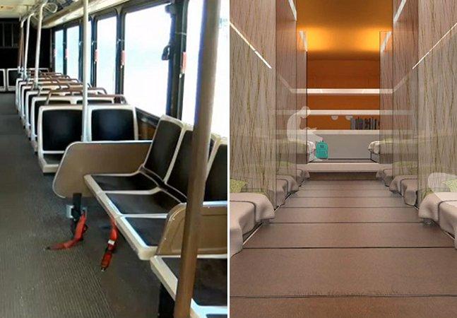 Havaí transforma ônibus antigos  em abrigo para moradores de rua