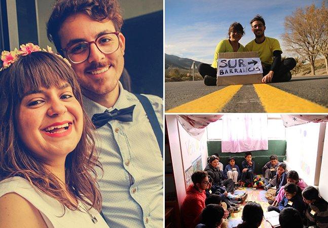 Casal brasileiro larga o emprego para percorrer a América Latina trabalhando e ajudando pessoas pelo caminho