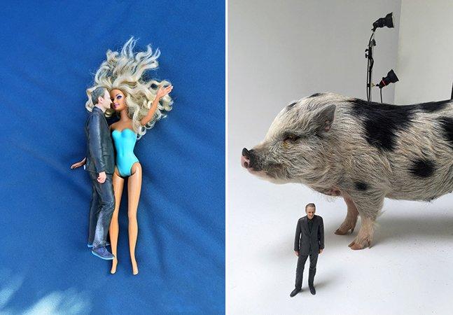 Homem usa sua versão de boneco 3D para criar série de fotos divertida