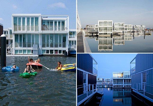 Conheça o bairro em Amsterdã feito de casas flutuantes que pode ser o futuro da habitação