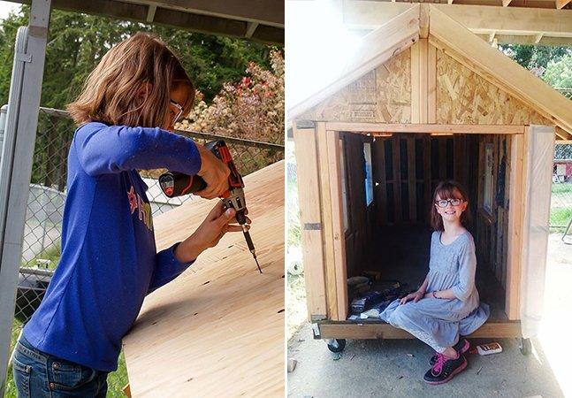 Menina de 9 anos lança campanha para cultivar alimentos e construir abrigos móveis para moradores de rua