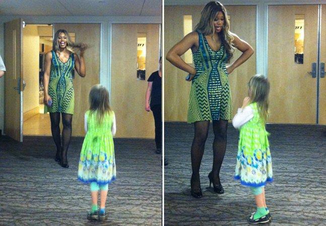 Menina trans de 7 anos se encontra com atriz trans do seriado Orange is the New Black