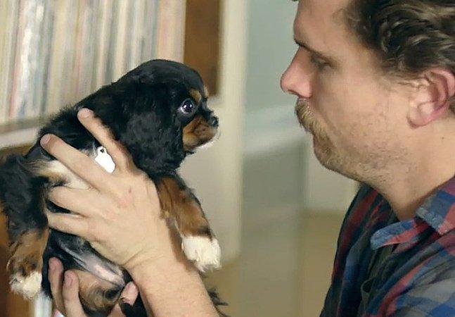 Comercial mostra como são os primeiros momentos na vida de um homem e seu novo amigo de quatro patas