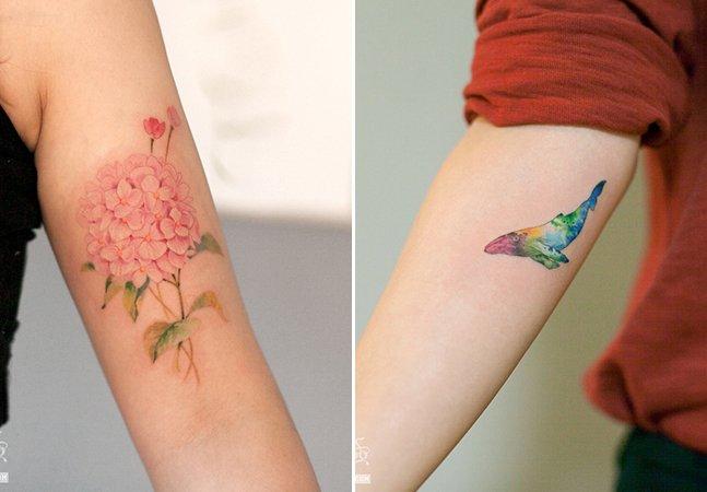 Os traços minimalistas e inspirados na natureza do estúdio Graffittoo Tattoo