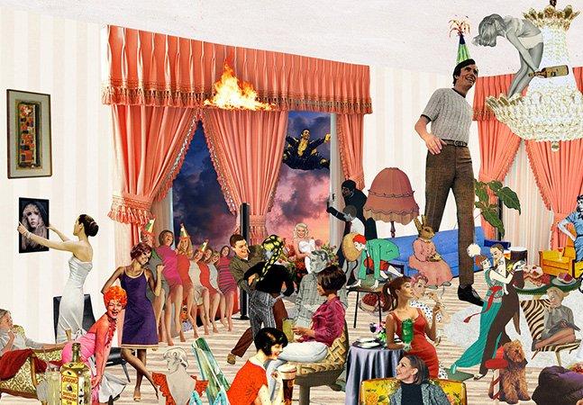 Artista cria série de colagens gigantescas e cheias de detalhe feitas com centenas de imagens