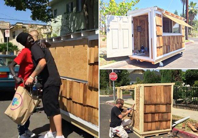 Homem constrói casa móvel para sem-teto que vivia em sua rua