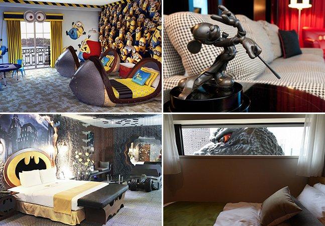 7 quartos de hotel temáticos pelo mundo para ficar perto dos seus personagens preferidos
