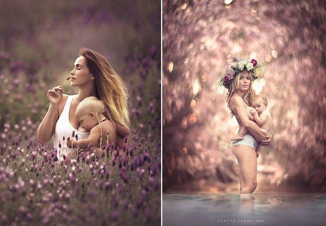 Mãe fotógrafa cria série encantadora para quebrar o tabu da amamentação em público