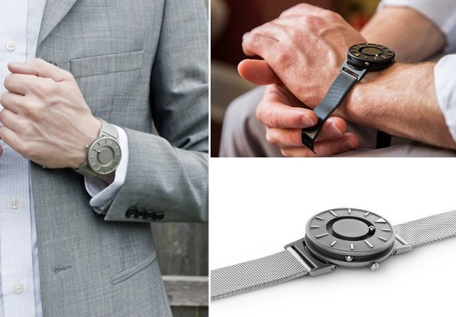 Relógio cheio de estilo permite que deficientes visuais saibam que horas são