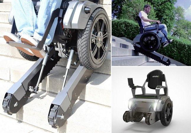 Estudantes criam cadeira de rodas elétrica que sobe escadas