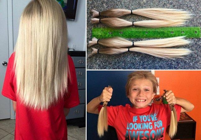 Garoto fica mais de 2 anos sem cortar o cabelo para doá-lo a crianças com câncer