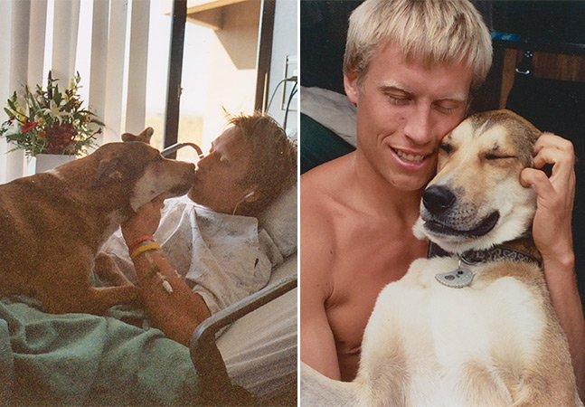 Vídeo emocionante mostra a despedida de um cão e seu melhor amigo