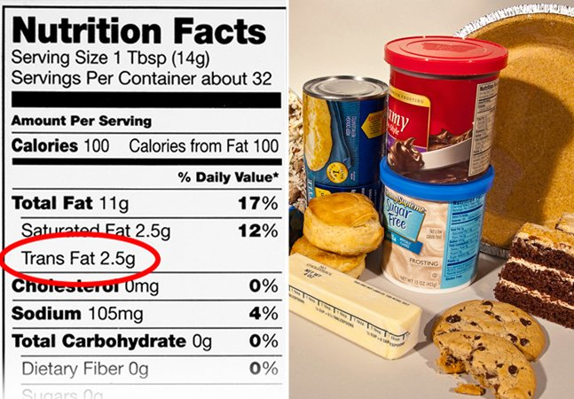 EUA querem banir gordura trans nos alimentos processados em até 3 anos