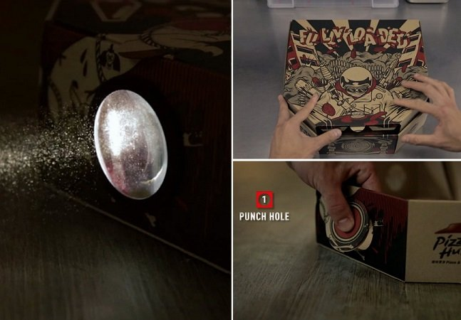 Pizza Hut transforma embalagem em projetor para filmes