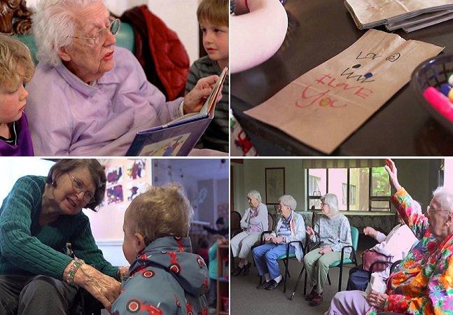 Organização transforma vida de idosos e crianças ao fazê-los interagir