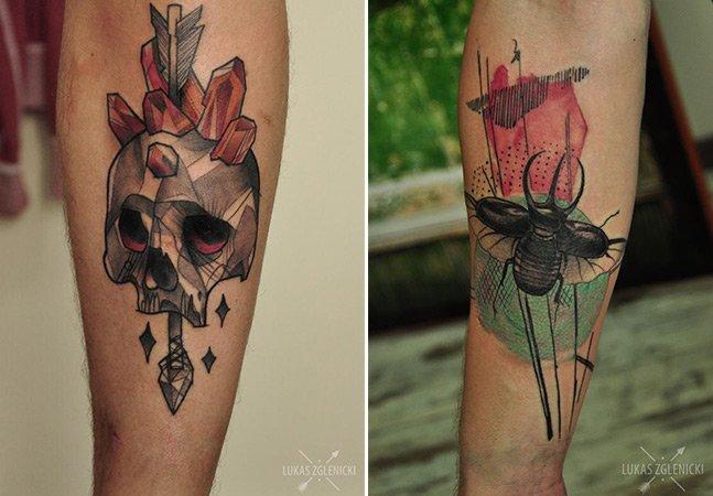 Tatuador polonês aposta em traços fortes e coloridos para criar incríveis obras de arte na pele